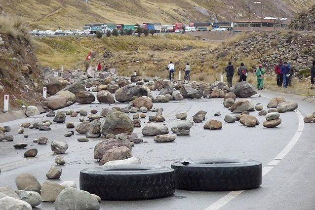 Peru pais minero, dicen (5): Bloqueos eran los de antes